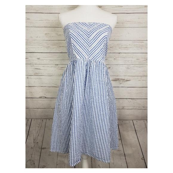 Old Navy Dresses | Strapless Seersucker Dress | Poshmark